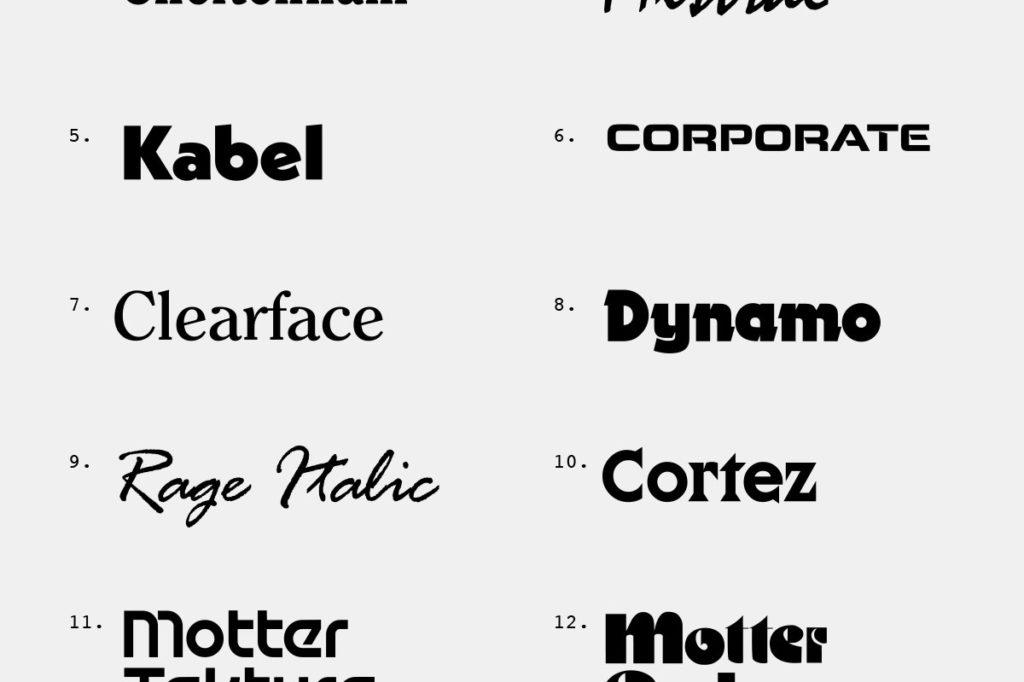14 Best Eighties Typefaces